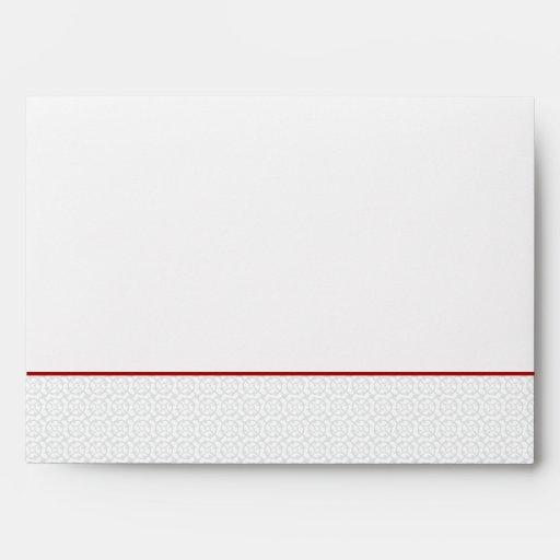 5x7  Envelope Option 5 Gray Red Formal Print