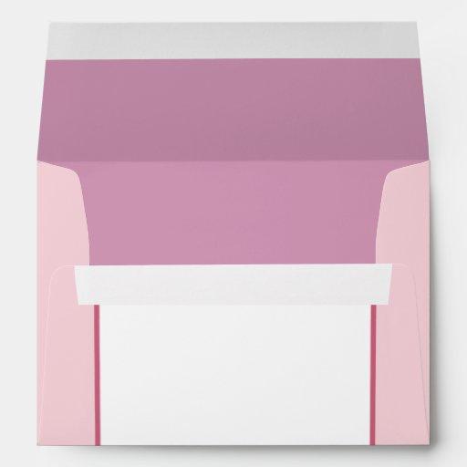 5x7  Envelope Option 5 Pink/Purple Chinese Scrolls