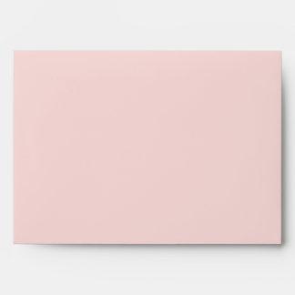 5x7 Envelope Pink Outside Black Striped Inside