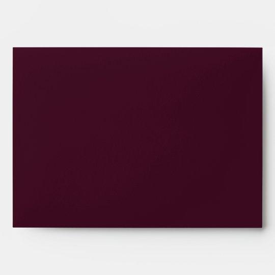 5x7 Envelope Purple Outside Brown Vintage Inside