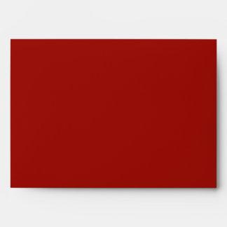 5x7 Envelope Red Outside Black Damask Inside