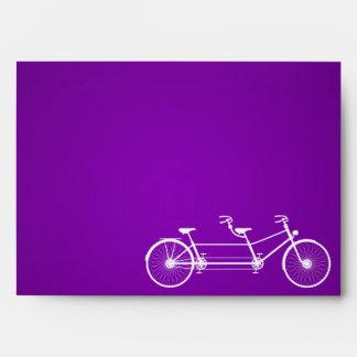 5x7 Envelope Whimsical Purple Double Bike Bicycle