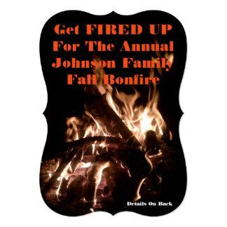 5x7 Fall Bonfire Invitation