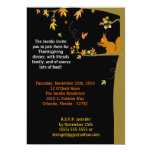 """5x7 Fall Leaves Thanksgiving Party Invitation 5"""" X 7"""" Invitation Card"""