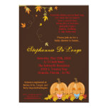 5x7 Fall Leaves TWIN TWINS Baby Shower Invitation Announcement