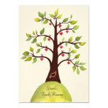 """5x7 Family Reunion Watercolor Heart Tree Invite 5"""" X 7"""" Invitation Card"""