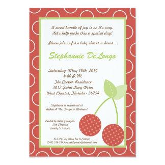 5x7 Farm Red Cherry Fruit Baby Shower Invitation