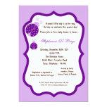 5x7 fiesta de bienvenida al bebé purpúrea clara de invitacion personalizada