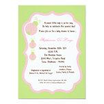 5x7 fiesta de bienvenida al bebé verde clara de la invitación 12,7 x 17,8 cm