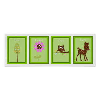 5X7 Forest Friends Wall Art Collection