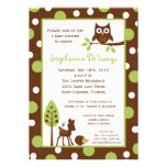 5x7 Forrest Woodland Animal Baby Shower Invitation Custom Announcements