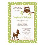 5x7 Forrest Woodland Animal Baby Shower Invitation Invitations