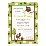 5x7 Forrest Woodland Animal Baby Shower Invitation Personalized Invitations