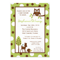 "5x7 Forrest Woodland Animal Baby Shower Invitation 5"" X 7"" Invitation Card"