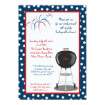 "5x7 Fourth 4th of July Party Barbecue Invitation 5"" X 7"" Invitation Card"