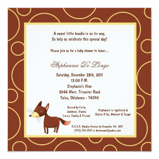 5x7 Fox Pok-a-Dot Baby Shower Card