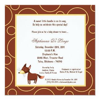 5x7 Fox Pok-a-Dot Baby Shower Custom Invite