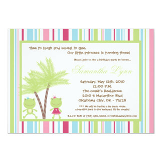 5x7 Frog Prince Princess Birthday Party Invitation
