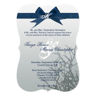 5x7 Frosted Glass Cracked Mirro Wedding Invitation