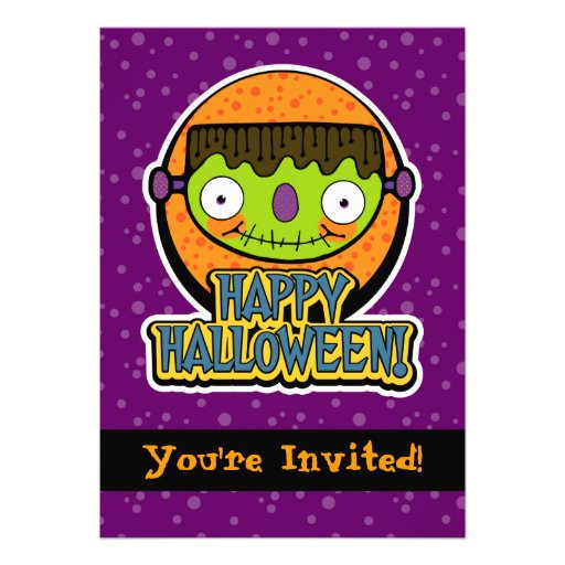 5x7 Funny Frankenstein Halloween Party Invitations