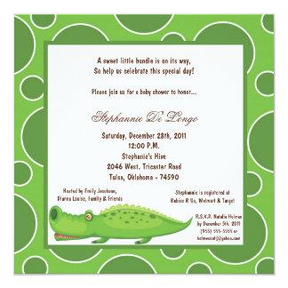 5x7 Gator Pok-a-Dot Baby Shower Card