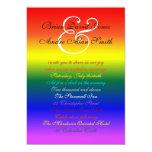 5x7 Gay Wedding Rainbow LGBT Pride Basic Paper 5x7 Paper Invitation Card