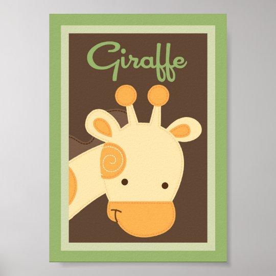 """5x7 """"Giraffe"""" Jungle Safari Baby Bedding Wall Art"""