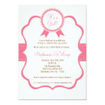 5x7 Girl Pink It's a Girl Baby Shower Invitation