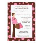 5x7 Girl Pink Modern Mom Baby Shower Invitation