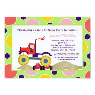5x7 Girl Punk 4x4 Truck Birthday Party Invitation