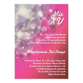 5x7 Glitz Glimmer Quinceanera Birthday Invitation