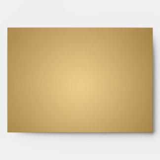 5x7 Gold Outside Black Inside Envelope