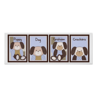 5x7 Graham Crackers Baby Bedding Wall Art