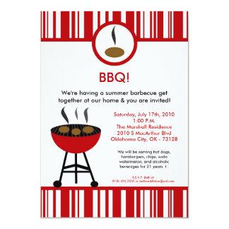 5x7 Grill Summer Time Picnic Barbecue Invitation