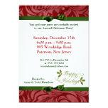 """5x7 Happy Holidays Christmas Holly Invitation 5"""" X 7"""" Invitation Card"""