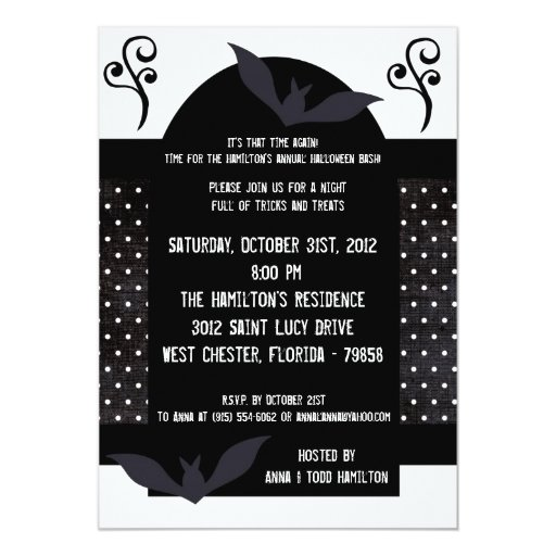 5x7 Haunted House Halloween Party Invitation