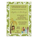 5x7 Hawaiian Luau Tropical Baby Shower Invitation
