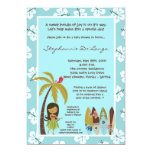 5x7 Hawaiian Luau Tropical Baby Shower Invitation Personalized Invites