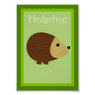 5X7 Hedgehog Forest Friends Wall Art