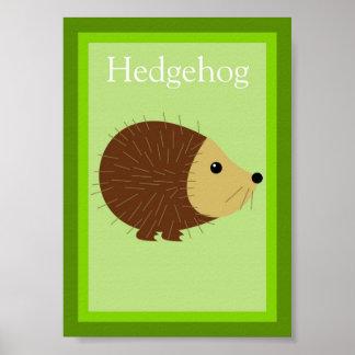 5X7 Hedgehog Forest Friends Wall Art Poster