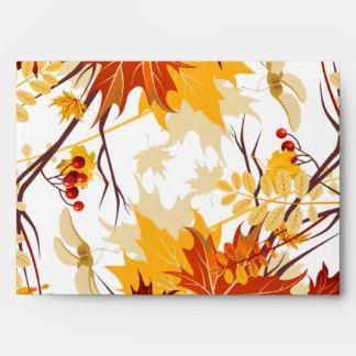 5x7 hojas de la rama del otoño del sobre Option1