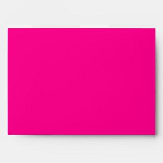 5x7 Hot Pink Outside White Inside Envelope