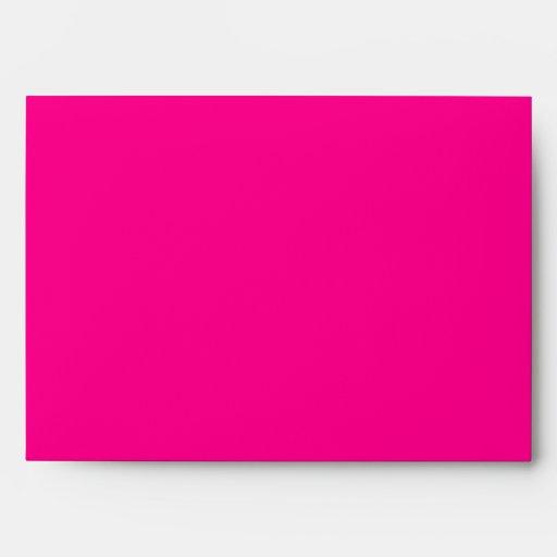 5x7 Hot Pink Outside Zebra Print Inside Envelope