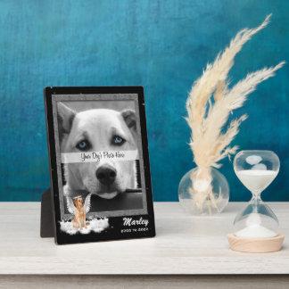 5x7 Inch Pet Memorial Photo with Golden Retriever Plaque