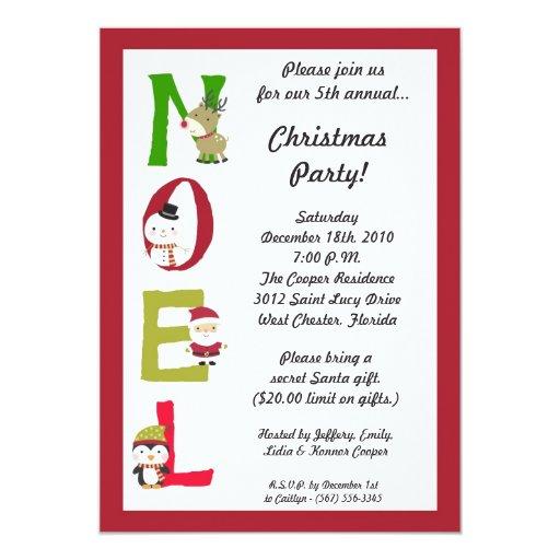 5x7 invitación de la fiesta de Navidad del muñeco
