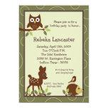 "5x7 Invite - Forrest Animal Birthday Invitation 5"" X 7"" Invitation Card"