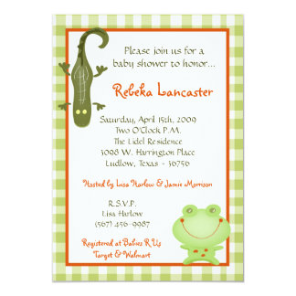 5x7 Invite - Swamp Buddies Baby Shower Invitation