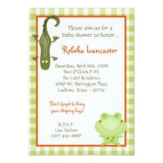 "5x7 Invite - Swamp Buddies Birthday Invitation 5"" X 7"" Invitation Card"