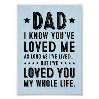 5x7 I've Loved You My Whole Life Print