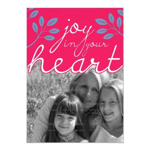5x7 Joy in Your Heart Flat Card |